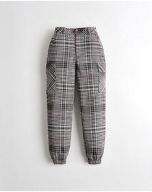 Hollister Ultra High-Rise Plaid Utility Joggers, P