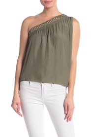 Ramy Brook Bria One-Shoulder Grommet Blouse