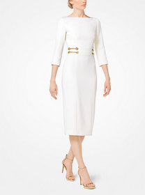 Michael Kors Stretch Bouclé-Crepe Sheath Dress