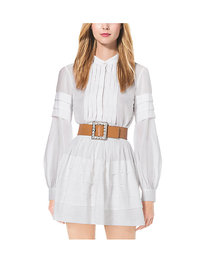 Michael Kors Pleated Cotton-Organdy Shirt