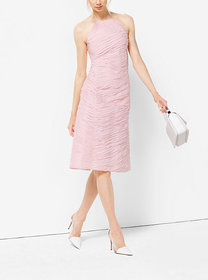 Michael Kors Ribbon-Embroidered Organza Dress