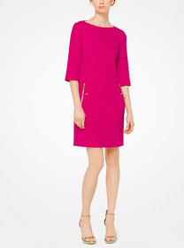 Michael Kors Bouclé-Crepe Shift Dress