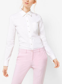 Michael Kors Embellished Cotton-Poplin Shirt