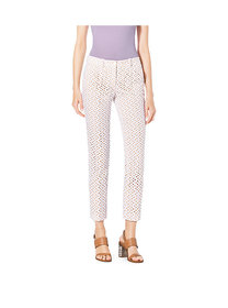 Michael Kors Eyelet-Embroidered Silk-Jacquard Skin