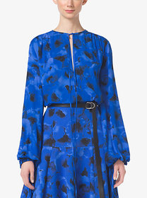 Michael Kors Poppy-Print Silk-Georgette Blouse