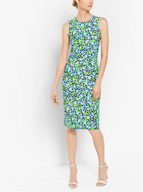 Michael Kors Floral Stretch-Cady Sheath Dress