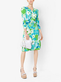 Michael Kors Floral Crepe-Sablé Dress