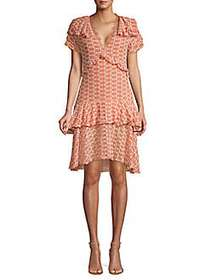 Walter Baker Tiered Ruffle A-Line Dress PINK