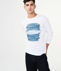 Aeropostale Long Sleeve Pop Culture Graphic Tee