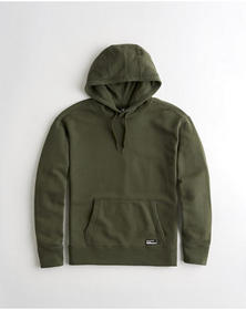 Hollister Terry Hoodie, OLIVE
