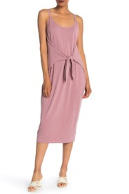 Vanity Room Tie Front Midi Knit Dress