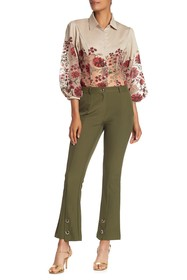 Gracia Toggle & Grommet Trousers