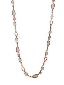 Anne Klein Crystal & Mother-of-Pearl Single Strand