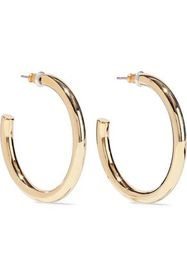 KENNETH JAY LANE 22-karat gold-plated hoop earring