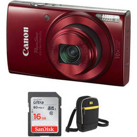 Canon PowerShot ELPH 190 IS Digital Camera with Fr