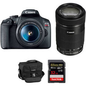 Canon EOS Rebel T7 DSLR Camera with 18-55mm and 55