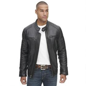 Wilsons Leather Moto Jacket w/ Shoulder Patches