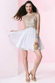 Alyce Paris - Homecoming - 3653 Dress in White Gol