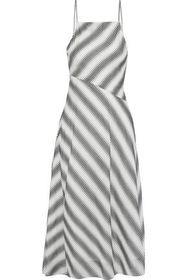 THEORY Summer Athens striped cotton and silk-blend
