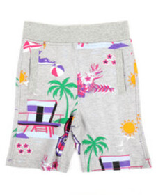 Born Fly all over printed loopback shorts (4-7)