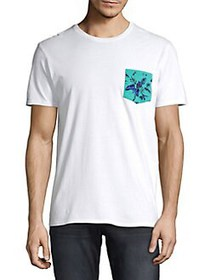 Black Brown 1826 Printed Pocket Tee AQUA