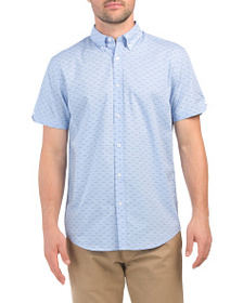 BEN SHERMAN Short Sleeve Seagulls Print Shirt