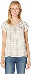 Lucky Brand Novelty Striped Top