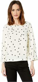 Vince Camuto Elbow Sleeve Ditsy Re-Set Side Snap B