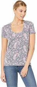 Lucky Brand Floral Burnout Tee