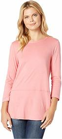 Mod-o-doc Deluxe Jersey Rounded Hem 3/4 Sleeve Tee