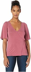 Lucky Brand Solid Wrap Top