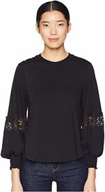 See by Chloe Long Sleeve T-Shirt with Lace Insert