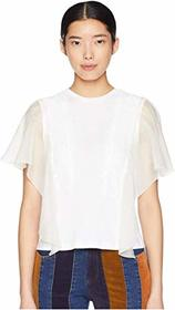 See by Chloe T-Shirt with Lace Overlay