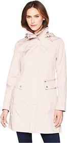 """Cole Haan 34 1/2"""" Single Breasted Rain Jacket with"""