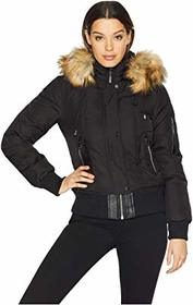 Vince Camuto Short Bomber Down Jacket with Faux Fu