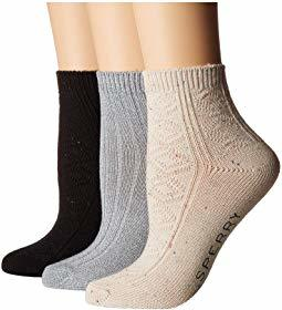 Sperry 3-Pack Sweater Weight Ankle Socks