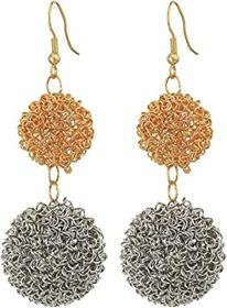 Kenneth Jay Lane Gold/Silver Double Wire Ball Drop