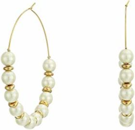 Kenneth Jay Lane Light Cultura Pearl with Gold/Lar