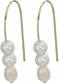 French Connection Triple Pearl Drop Earrings