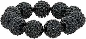 Kenneth Jay Lane Black Pave Ball Stretch Bracelet