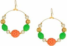 Kenneth Jay Lane Gold with Jade/Coral/White Pearl