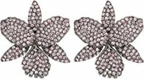 Nina Pave Large Orchid Earrings