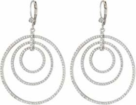 Nina Orbital Hoop On Leverback Earrings