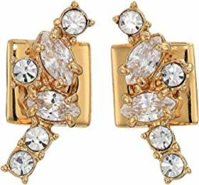 Vince Camuto Stone Cluster Climber Earrings