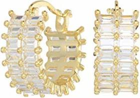 Nina Small Baguette Hoop Earrings