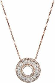 Nina Circle Baguette CZ Pendant Necklace