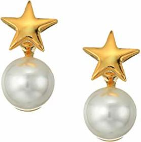 Kenneth Jay Lane Polished Gold Star Top and White