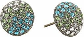 Nina Small Paved Button Earrings