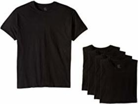 Hanes 4-Pack Core Cotton Platinum Crew
