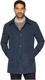 Cole Haan City Rain Button Front Carcoat with Deta